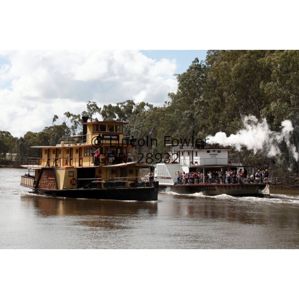 Paddle steamers on the Murray River Australia