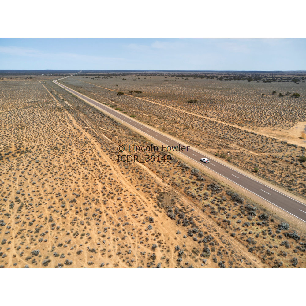 Aerial of Eyre Highway South Australia