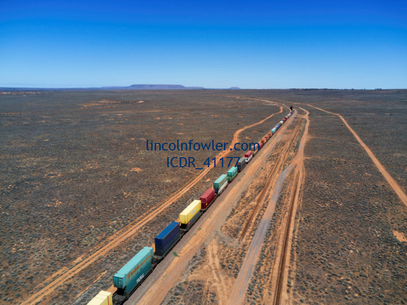 Freight Train crossing the arid Australian Outback