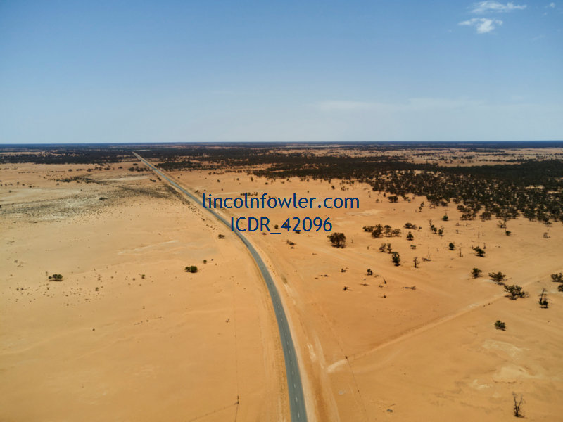 Drought affected country near Pooncarrie NSW Australia