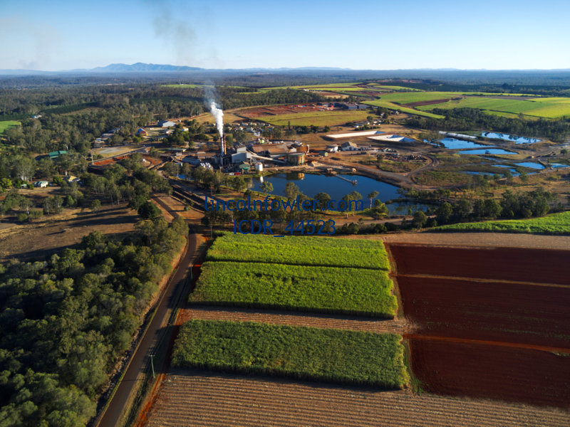 Aerial of the Isis Sugar Mill Queensland Australia