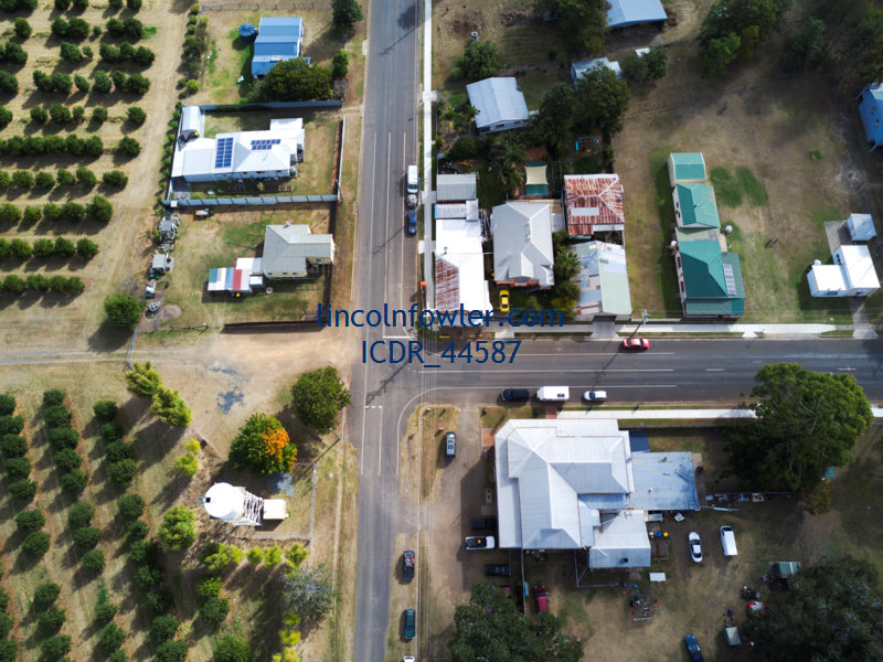 Aerial of Wallaville Queensland Australia