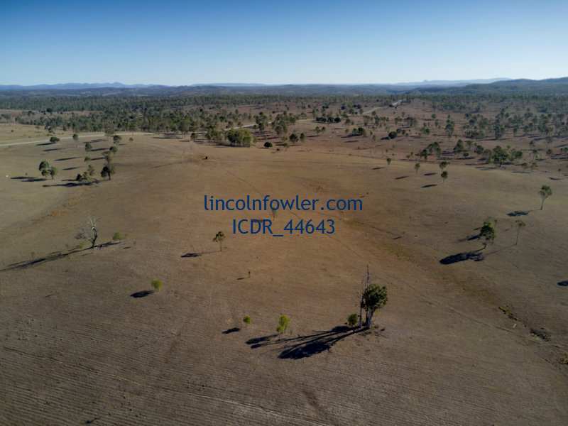 Aerial of drought affected grazing land Queensland Australia