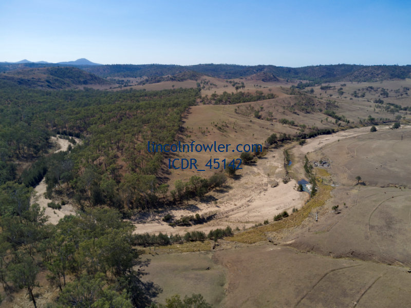 Bush cleared and uncleared landscape Queensland Australia