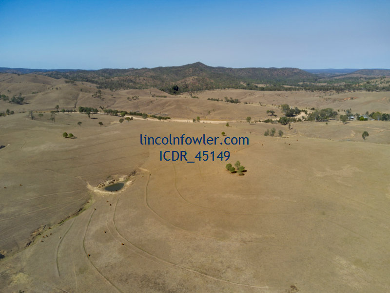 Drought affected landscape Mt Perry Queensland
