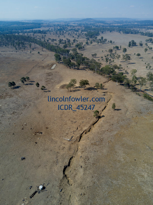Drought affected landscape near Abercorn Queensland Australia