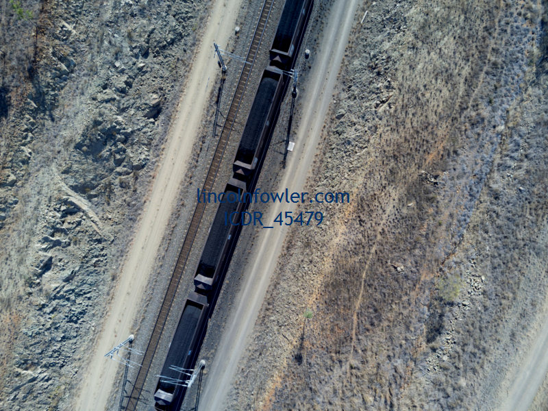 Freight Coal Train exporting to Gladstone Queensland Australia