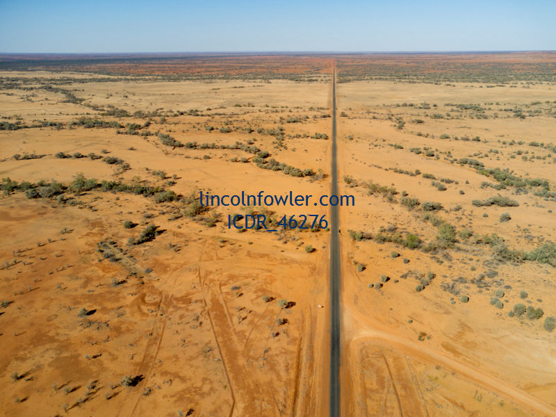 Sealed road Outback Queensland Australia
