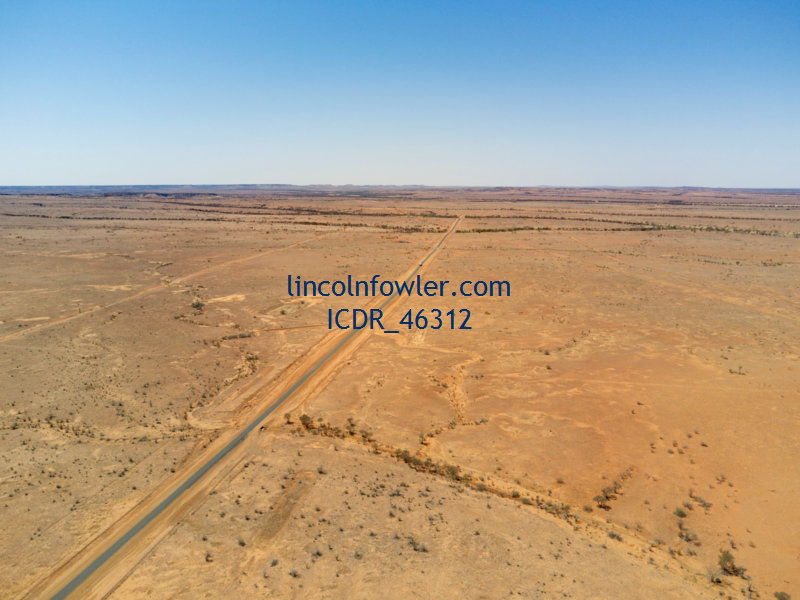 Highway through the Outback Western Queensland Australia