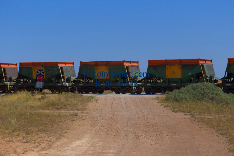 Freight train carrying Gypsum South Australia