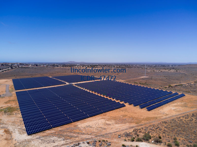 Aerial of Solar Panels Whyalla South Australia